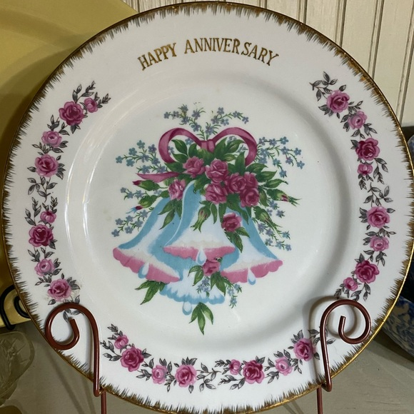 Vintage Other - Vintage happy anniversary plate decorative